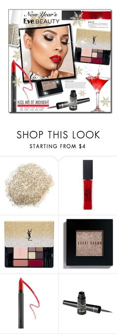 """""""#619 - NYE Beauty"""" by lilmissmegan ❤ liked on Polyvore featuring beauty, KAROLINA, Maybelline, Essie, Yves Saint Laurent, Bobbi Brown Cosmetics, Bite, Barry M, NewYearsEve and holidaybeauty"""