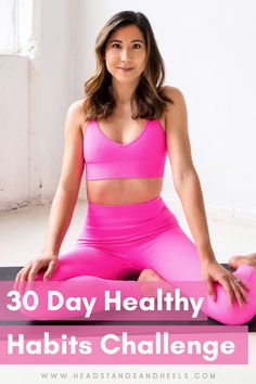 30 ideas for healthy habits to incorporate into your life! Check out my blog post to get the calendar!