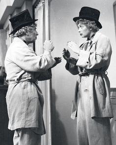 A real classic ... Lucille Ball & Harpo Marx in an episode of I Love Lucy