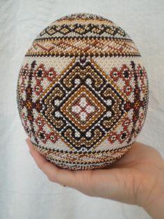 Ukrainian beaded pysanka