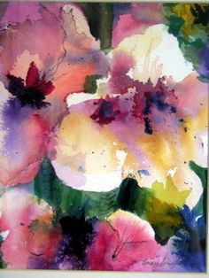 Abstract Floral 3 by Vivian Hershfield Paintings done in Watercolor, Oil and Pastels