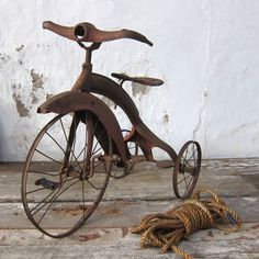 Streamline Art Deco 1930's Rusted Tricycle  $275.00