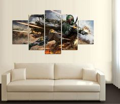 Star Wars HD Printed Boba Fett Canvas Picture Painting - free shipping worldwide