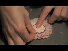 Crepe Paper Flower Rosette video...