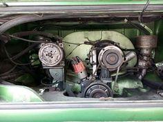 Engine Volkswagen Comby Double Barrel Carburator