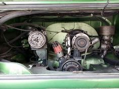 Engine Volkswagen Comby Double Barrel Carburator