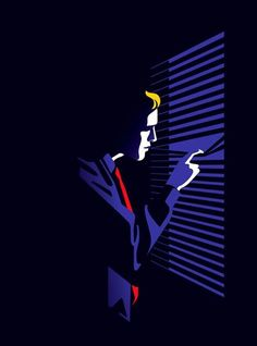 Film noir illustration for the magazine LIRE out today by malikafavre Illustration Agency, Flat Design Illustration, Digital Illustration, Graphic Illustration, Graphic Art, Science Illustration, Creative Illustration, Arte Pop, Illustrations Posters