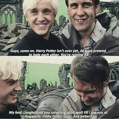 Longbottom u sniveling idiot, wait till I see you at Hogwarts, filthy potter lover!