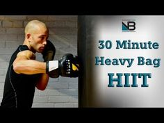 30 Minute Boxing Heavy Bag HIIT Workout – Exercises and Fitness Boxing Workout With Bag, Boxing Workout Routine, Boxing Training Workout, Punching Bag Workout, Heavy Bag Workout, Mma Workout, Gym Workout Tips, Beginner Boxing Workout, Boxing Punching Bag