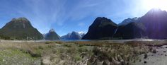 Panaroma of Milford Sound, New Zealand