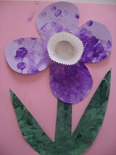 Flower Power! - No Time For Flash Cards: finger print flowers