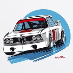 Guy Allen - BMW CSL T Shirt | Dono Art | Pinterest | BMW, Guys and ...