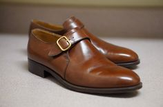 Single monk strap with brass buckle Built atop a single leather outsole and fully lined with soft calfskin. | eBay!