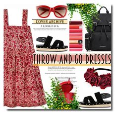 """""""Easy Outfitting: Throw-and-Go Dresses"""" by wuteringheights ❤ liked on Polyvore featuring Burberry, Muveil, Louis Vuitton and easydresses"""