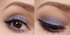 Review of Avon Supershock Vivid Liquid Eye Shadows in Lilac Lightning.