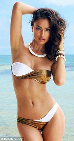 Hot, hot, hot! Irina sizzles during her  her latest campaign for American swimwear brand Beach Bunny