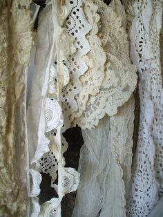 vintage lace, they all go together....For beautiful wedding dresses visit emmahunt.co.uk