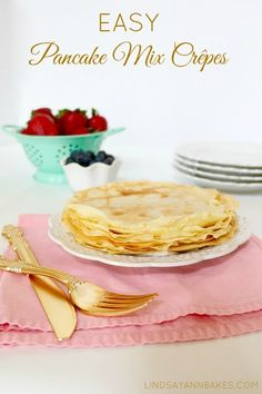 1 cup Krusteaz Buttermilk Pancake Mix  1 ¼ cup water  2 large eggs  2 tablespoons butter, melted  Oil or non-stick spray for pan