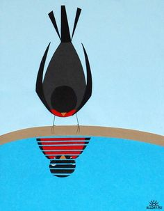 by Charley Harper | Gotta figure out how to make this into a mosaic