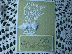 Homemade Sympathy Card With Sympathy by CardsbyEileen on Etsy