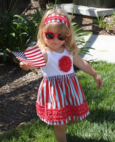 4th of July t-shirt dress girl ruffle rosette pdf pattern baby toddler onesie RUFFLED ROSETTE on Etsy, $7.95