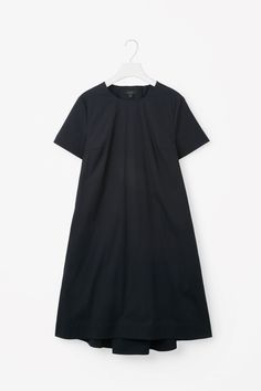 COS image 5 of Tie-back A-line dress in Navy