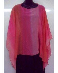 Pink Silk Poncho