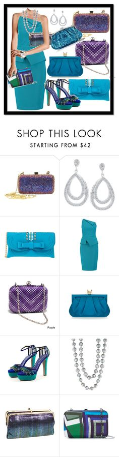 """Many Options For Clutches With This Cocktail Dress"" by kareng-357 ❤ liked on Polyvore featuring Giorgio Armani, La Fille Des Fleurs, Roland Mouret, Dasein, Wilbur & Gussie, Sergio Rossi, Effy Jewelry, HOBO, Faliero Sarti and Julia Cocco'"