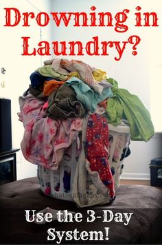 Constantly feel like you are drowning in laundry? Stop! And implement this 3 day laundry system! It's a great solution to feeling overwhelmed by clothes.