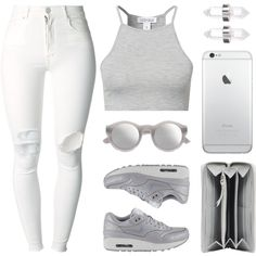 Grey scale by baludna on Polyvore featuring Estradeur, (+) PEOPLE, NIKE, Balenciaga, Amber Sceats and Maison Margiela