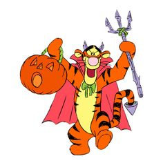 Disney Tigger Halloween Clipart --> Disney-Clipart.com ❤ liked on Polyvore featuring disney and halloween
