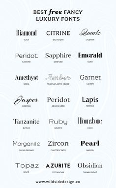 Best Free Luxury Fonts - Fonts - Ideas of Fonts - What if you want to make YOUR brand look high end? Here are some free luxury fonts in a variety of styles serif sans-serif and some high-end scripts. Web Design, Free Font Design, Graphic Design Fonts, Poster Design, Font Free, Best Free Fonts, Free Fonts Sans Serif, Font Logo Design, Best Fonts For Logos