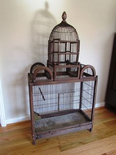 Huge Antique Birdcage Wood and Wire Dome top by GrandAndTaylor, $159.00