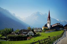 Austria, Telfes im Stubai - if only I could drive there! Beautiful Places To Travel, Great Places, Places To Visit, Tirol Austria, Visit Austria, Old Churches, Kirchen, Adventure Is Out There, Places Around The World