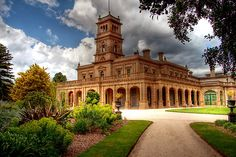 Werribee Mansion by Christine Smith -- Italianate-Victorian style architecture.