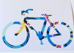 Bicycle Car Decal, Bicycle Sticker, Bike Sticker, Bike Car Decal, Bicycle wall sticker, Bike wall sticker, Bike Macbook Sticker, Bicycle macbook sticker, car decal, bike car sticker, paisley.