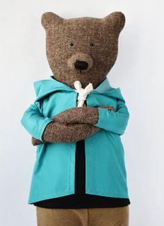Simon der Bär. Primitive Teddybär. von PhilomenaKloss auf Etsy
