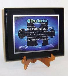 Award Plaque with Custom Full-Color Textured Printing