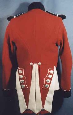 Back side view of a British Royal Marines Uniform, circa 1840-1855. ( U.S. National Parks Service).
