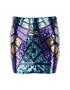 Lipsy Metallic Sequin Skirt