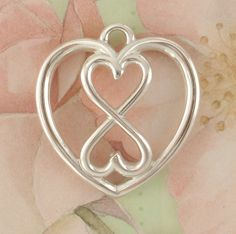 1 Large Sterling Silver Infinity Hearts in a Heart Pendant - 24mm x 22mm. $ 25.00, via Etsy.