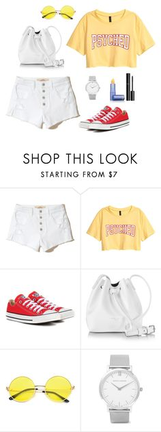 """Untitled #290"" by bajka2468 ❤ liked on Polyvore featuring Hollister Co., Converse, Lancaster, Larsson & Jennings, Lipstick Queen and Chanel"