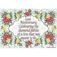 60TH wedding anniversary sentiments | 60th wedding anniversary poems