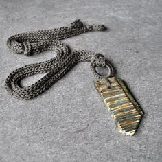 Unique ceramic necklace / Long ceramic by AliquidTextileJewels