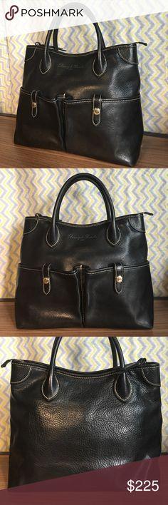 "Dooney & Bourke Florentine Vacchetta Handbag Dooney & Bourke Black Leather Florentine Vacchetta Handbag 10"" X 14"" X 6"" Dooney & Bourke Bags Satchels"