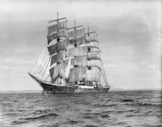 Sailing to the end of the world...a magnificently rugged sailboat on a voyage to Cape Horn in 1939.