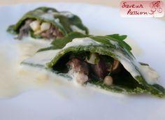 Raviole verte d'escargots à la crème d'ail - SAVEUR PASSION