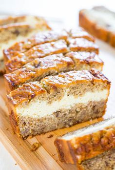 Cream Cheese-Filled Banana Bread - Oh my! where has this bread recipe been all my life?