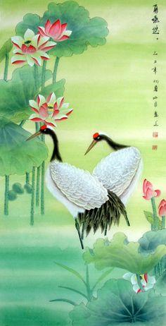beautiful bird paintings   beautiful crane bird painting (8)
