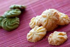 Melt-in-your-mouth yummy Matcha Butter Cookies. king